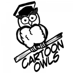 How to Draw Owls with Simple Steps to Cartooning a Comic Owl with Graduation Cap on