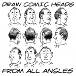 Drawing Comic / Cartoon Style Heads & Faces From All Angles & Views