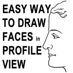 How to Draw Human Faces in Profile Side View with Easy Method Tutorial