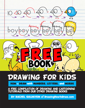 free kids drawing book - learn how to draw with letters