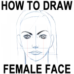 How to Draw Female Faces in the Correct Proportions