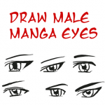Draw Anime Eyes (Male): How to Draw Manga Boys & Men Eyes Drawing Tutorials