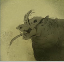 How to draw evil boar pig Monster : How to Draw Monsters Step by Step