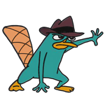 How to Draw Perry the Platypus Agent P from Phineas and Ferb