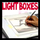 Tracing Images with Light Boxes