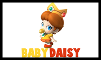 Learn How to Draw Baby Princess Daisy