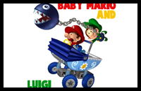 How to draw Baby Mario and Baby Luigi