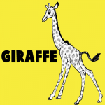 How to Draw Cartoon Giraffes Step by Step Drawing Tutorial