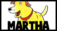 Learn to Draw Martha the Talking Dog