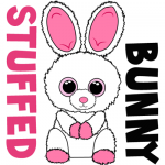 How to Draw Stuffed Baby Bunnies with Easy Step by Step Drawing Tutorial