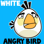 How to Draw White Angry Bird That Looks Like a Chicken or Hen