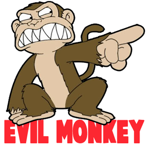 How To Draw The Evil Monkey From Family Guy