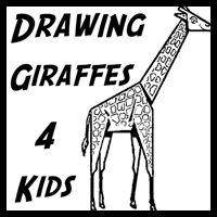 How to Draw Giraffes with Easy Steps for Kids and Preschoolers