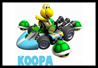 How to Draw Koopas from Wii Mario Kart