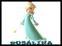 How to Draw Rosalina from Wii Mario Kart in Easy Lesson