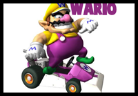 Learn to Draw Wario from Wii Mario Kart with This Instructional Tutorial