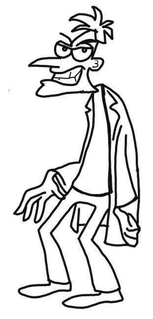 How To Draw Dr Doofenshmirtz From Phineas And Ferb For