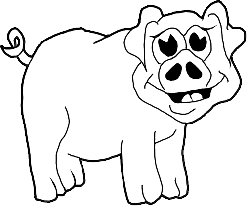 how to draw cartoon pigs farm animals step by step drawing tutorial for kids - Cartoon Drawings Kids