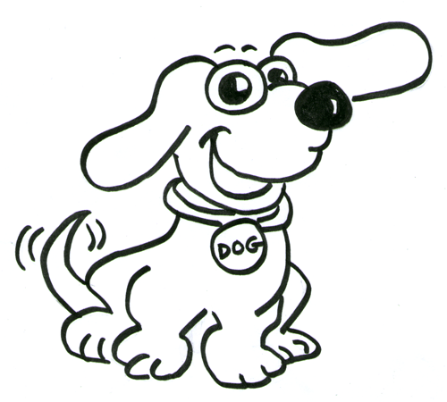 How to draw a cartoon dog - photo#14
