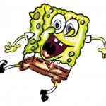 Finished Colorized How to Draw Spongebob Squarepants Doing the Wave : Step by Step Drawing Lessons