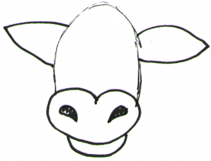 Step 2 How To Draw Cartoon Cows Farm Animals Step By