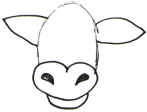Step 2 How To Draw Cartoon Cows Farm Animals Step By Step Drawing