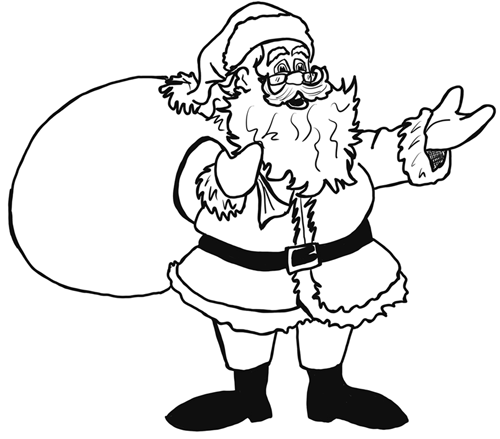 Joakimandreassen santa claus drawing