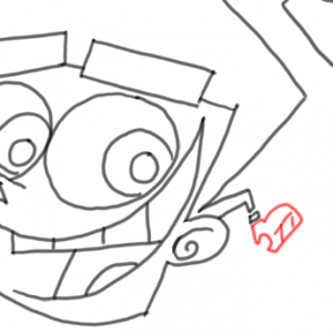 how to draw timmy turner step by step