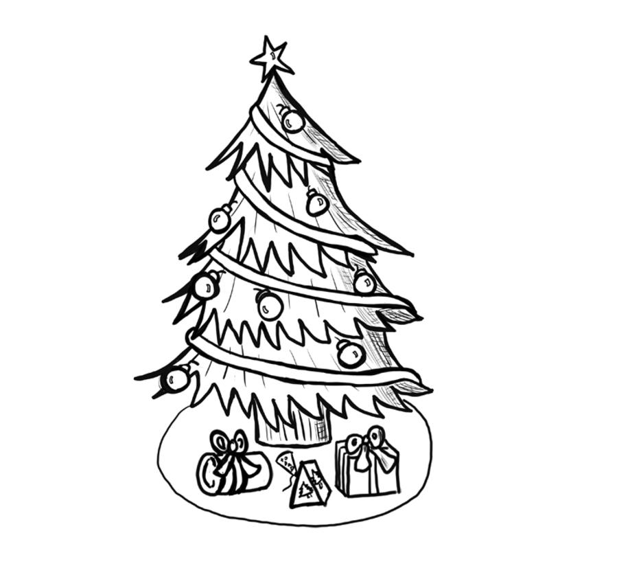 Pencil Thin Christmas Tree