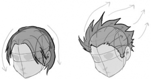 Step 2 How To Draw Anime Manga Hair Sytles With Drawing