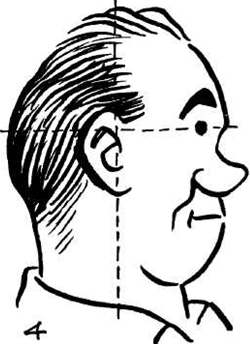 how to draw cartoon comic faces heads from profile side view