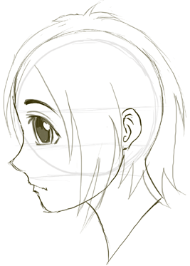Step 7 Drawing Manga Anime Faces Amp Heads In Profile Side