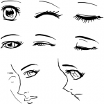 How to Draw Anime & Manga Female Eyes