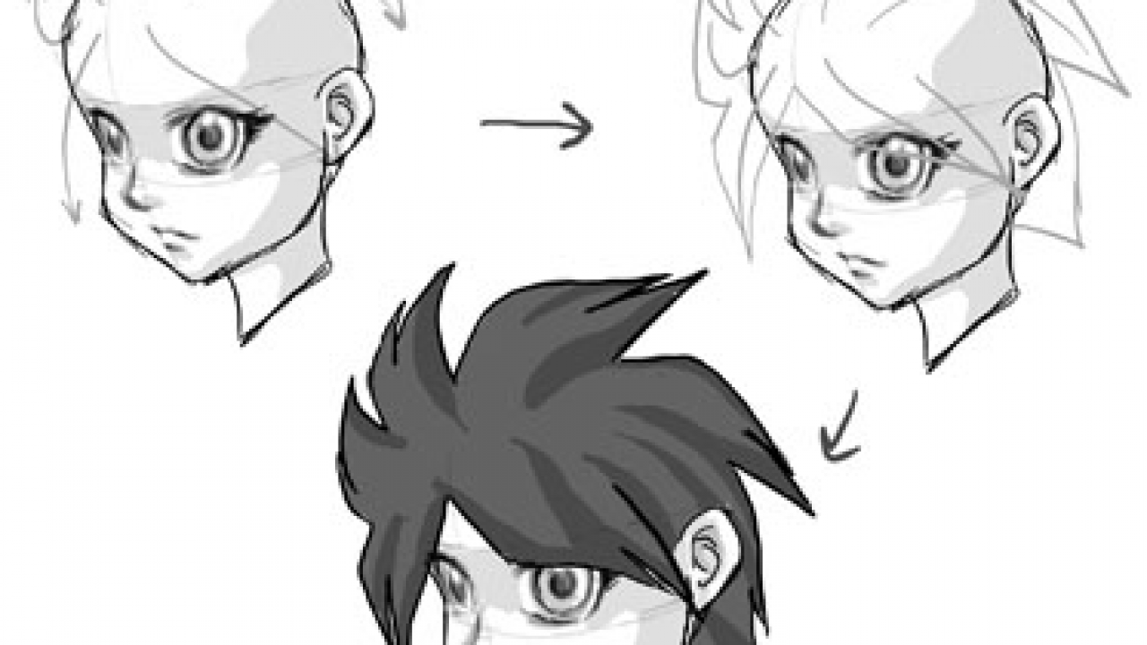 Draw a Manga Face (Male) | Cartoon clip art, Cartoon drawings ... | 720x1280