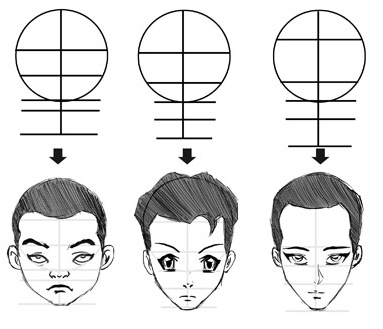 Step 18 how to draw manga anime heads faces