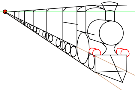 Step 20 Drawing Trains In One Point Perspective With Tutorial How To Draw Step By Step Drawing Tutorials