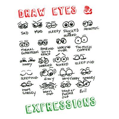 Resultado de imagem para face expressions cartoon