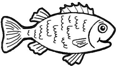 Finished Drawing Tutorial of Cartoon Fish How to Draw Step by Step
