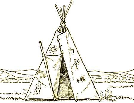 Teepee Drawing How To Draw Native American Teepees Step