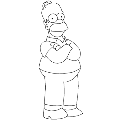 Simpson Drawing Tutorial How to Draw Homer Simpson From