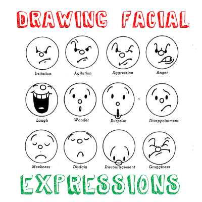 How to draw cartoon emotions facial expressions drawing for Free online drawing lessons step by step