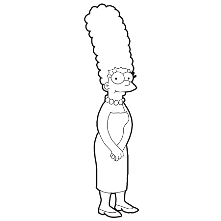 Simpson Drawing Tutorial How to Draw Marge Simpson From