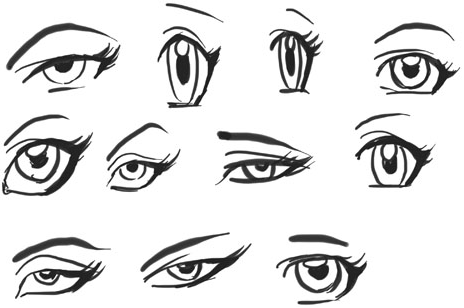 Variety of manga anime eyes forms how to draw step by step variety of manga anime eyes forms ccuart Choice Image