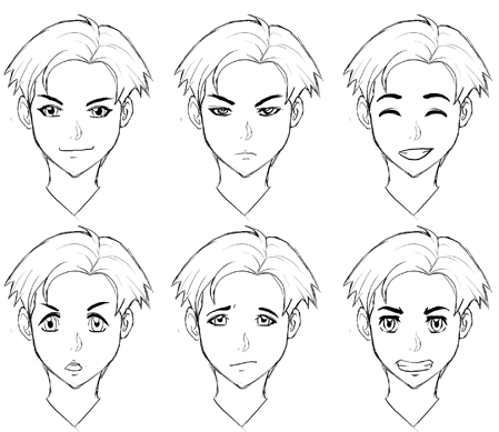 How to draw manga anime emotions and expressions