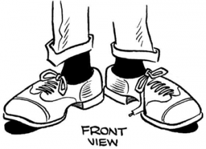 08shoesfrontview how to draw step by step drawing