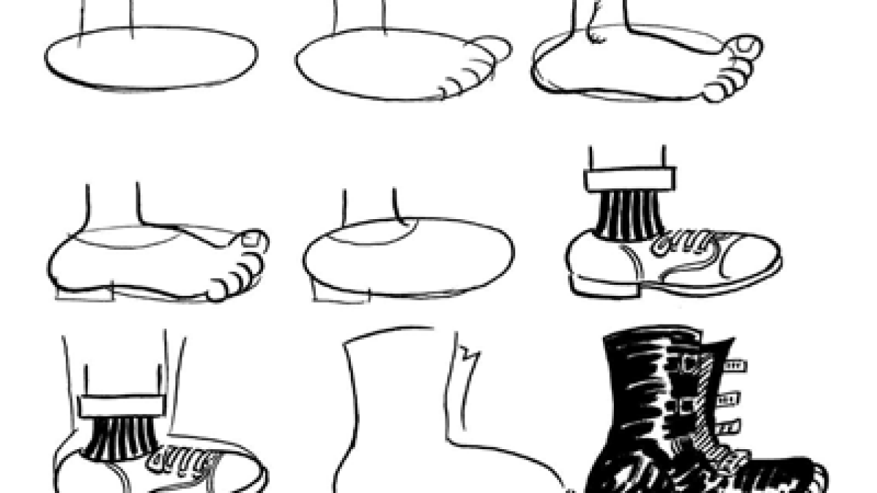 How to Draw Cartoon Feet \u0026 Shoes When Drawing Comics
