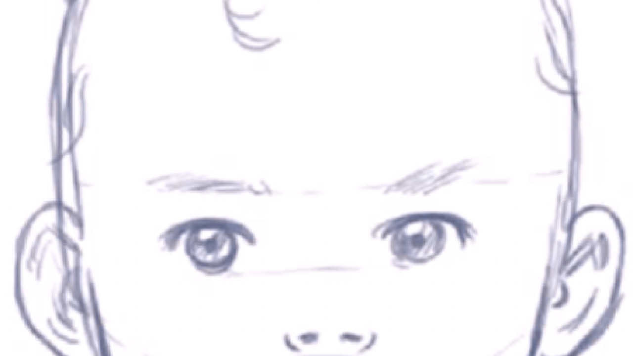 How To Draw A Baby S Face Head With Step By Step Drawing Instructions How To Draw Step By Step Drawing Tutorials