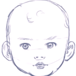 How to Draw a Baby's Face with Step by Step Drawing Instructions