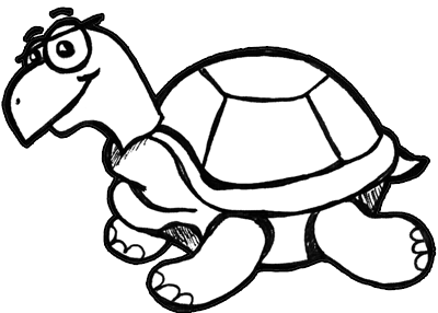 Finished Drawing Of Cartoon Turtles How To Draw Step By Step