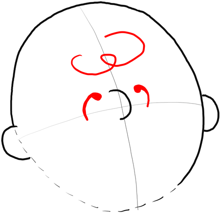 3 Curved Lines With Circle Around It